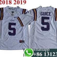 45cfc49e35f Free shipping 2018 Men LSU Tigers Derrius Guice 5 College jerseys(China)