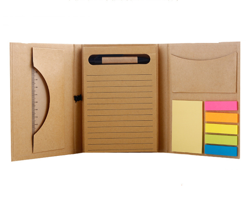 Creative Notebook Paper Diary Compact Strap Multifunctional Stationery Notebook With Pen Post It Notebook