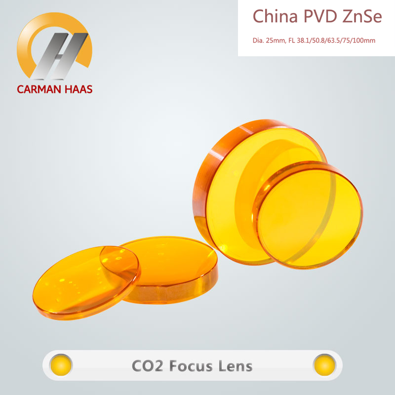 CARMANHAAS China ZnSe Focus Lens CO2 Laser Lens Dia.25mm FL38.1 50.8 63.5 75 100mm 28mm usa znse focus lens for co2 laser 127mm focal length co2 laser lens