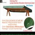 Навес замена для Greenfingers Loreto 3-местный качели гамак зеленый навес 92 5
