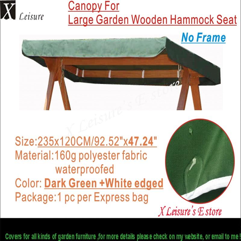 "Canopy Replacement for Greenfingers Loreto 3 Seter Swing Hengekøye Green Canopy 92,5 ""x47,2"" / 235x120cm"