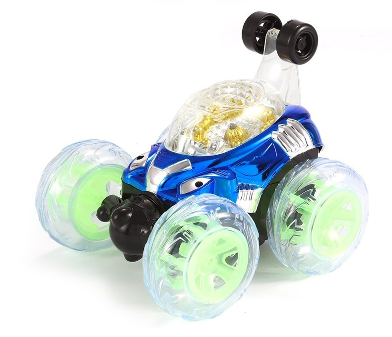 Купить с кэшбэком Ride On Cars With light stunt dumpers rechargeable electric remote control car rolling flip toy car off-road gifts for children