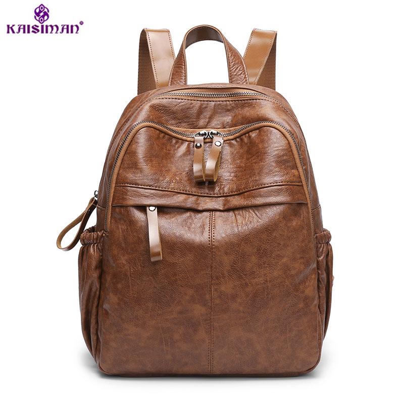 Brand Vintage Women Backpack Genuine Leather School Backpacks for Teenage Girls Casual Large Capacity Shoulder Bags Sac A Dos artistic wall mounted retro style bath towel shelf antique brass bathroom towel holder towel bar