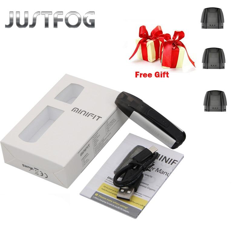 Justfog MINIFIT Starter Kit 370 mAh tout en un vaporisateur kit pk brise kit avec MINIFIT batterie compact pod vaping dispositif