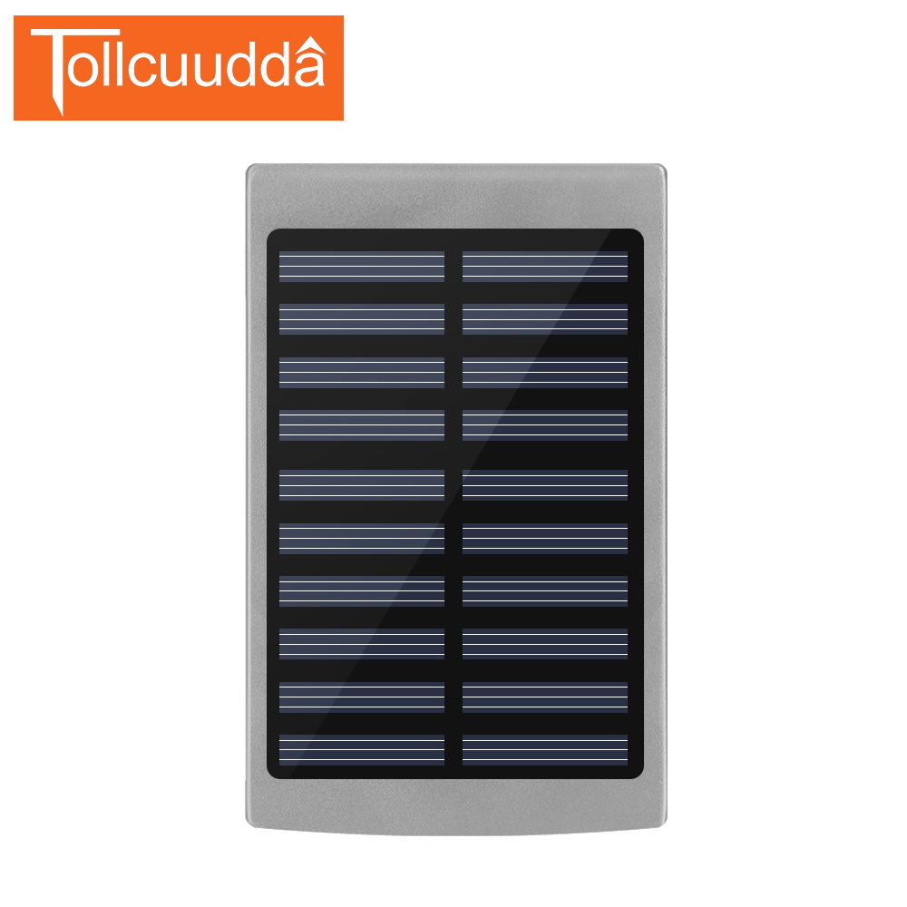 Tollcuudda 10000mAh Solar Power Bank Outdoor External <font><b>Battery</b></font> Mobile Solar Charger Portable Powerbank Universal For <font><b>Cellphone</b></font>