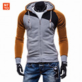 Marca Mens Hoodies Moleton masculino Hip Hops Algodón Sudaderas Patchwork Color Chándal Chaquetas Encapuchadas Casuales Assassins Creed