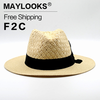 Maylooks New Fashion Jazz Cowboy Sun Hats For Women Men Hats Straw Hats For Men Hats