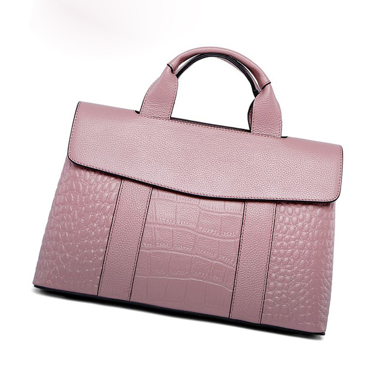 цена Leather crocodile pattern handbag large capacity ladies bag 2018 new European and American fashion wild Messenger shoulder bag