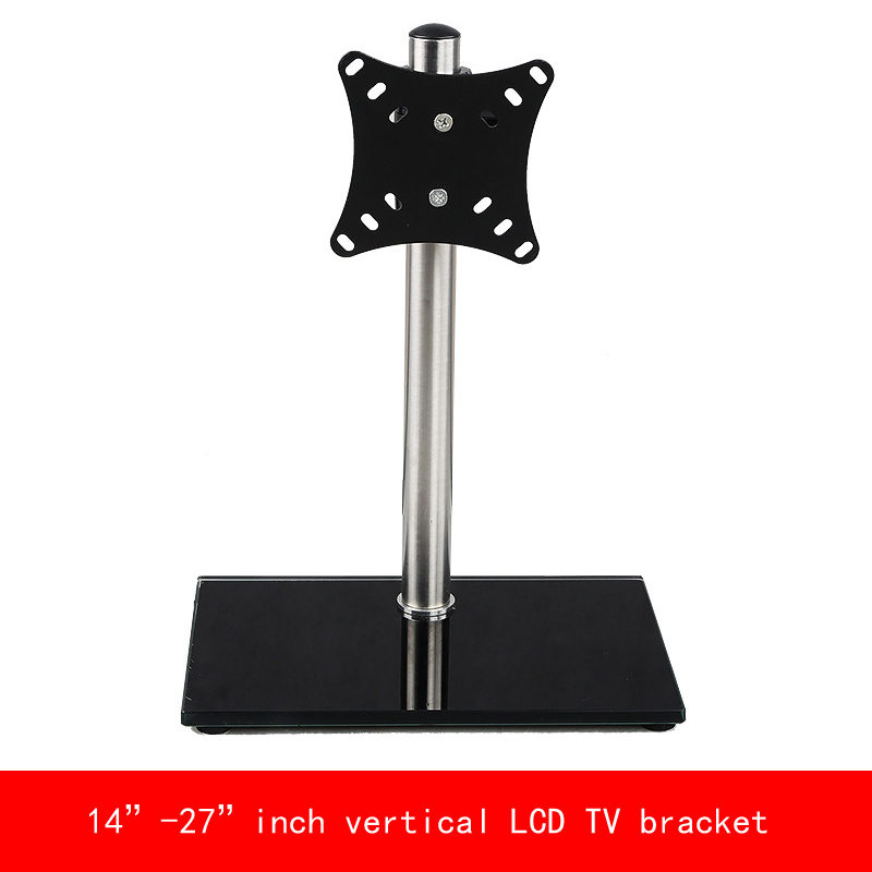 VESA standard Universal 14-27 inch move up or down PC Monitor LCD TV bracket vertical Toughened glass base stent vesa standard 14 32 inch move up or down pc monitor plasma lcd tv bracket vertical toughened glass base stent