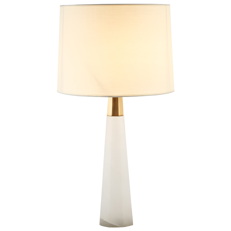 Пост современный мраморный настольные лампы современный Золото Люкс медь тело ткань иску ...