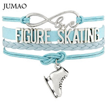 Infinity Love Skate Figure Skating Shoes Flip Axel Salghow Toe Loop Jump Bracelets & Bangles For Women Men Gift Drop Shipping(China)