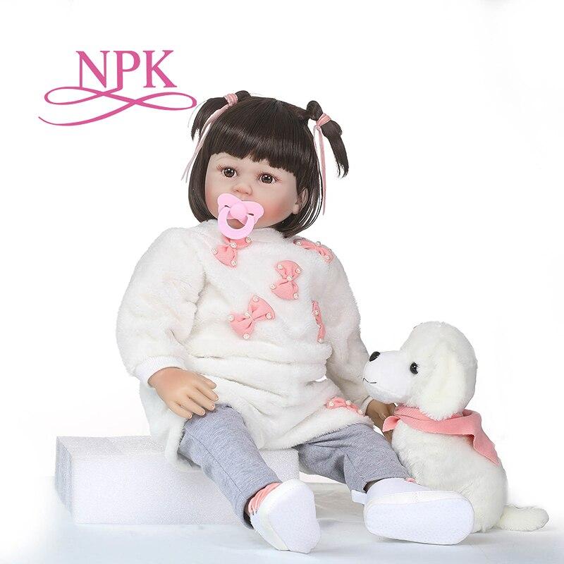 NPK Nouveau 23 Réaliste Bebe Reborn Poupée Reborn Bébés Silicone Réaliste Bébé Poupées Enfants Croissance Partenaires Naissance Reborn Juguetes