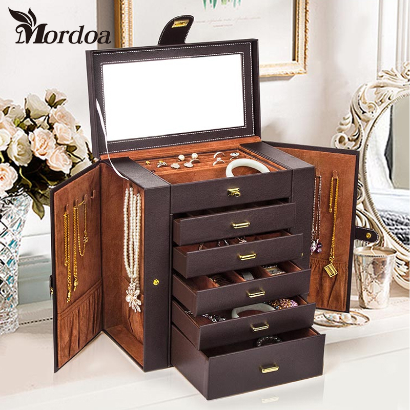 2017 Mordoa High end Home Decoration Jewelry Display Box Storage Box Princess Ring Necklace font b