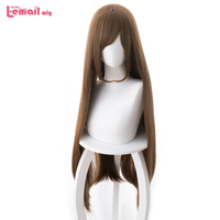 L email wig New Domestic na Kanojo Hina Tachibana Cosplay Wigs 80cm Brown Straight Synthetic Hair Perucas Cosplay Wig