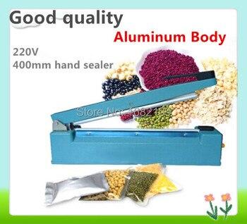 Good quality,220V 400mm hand Impulse Sealer,Heat Sealing Plastic Bag Closer Sealer,Sealing Machine(SF-400)Aluminum Body