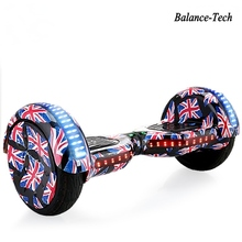 Hoverboards with Bluetooth and LED Lights Big Wheel Skateboard Hoverboard 10 Inch Bluetooth Hoverboard Self Balancing Scooter