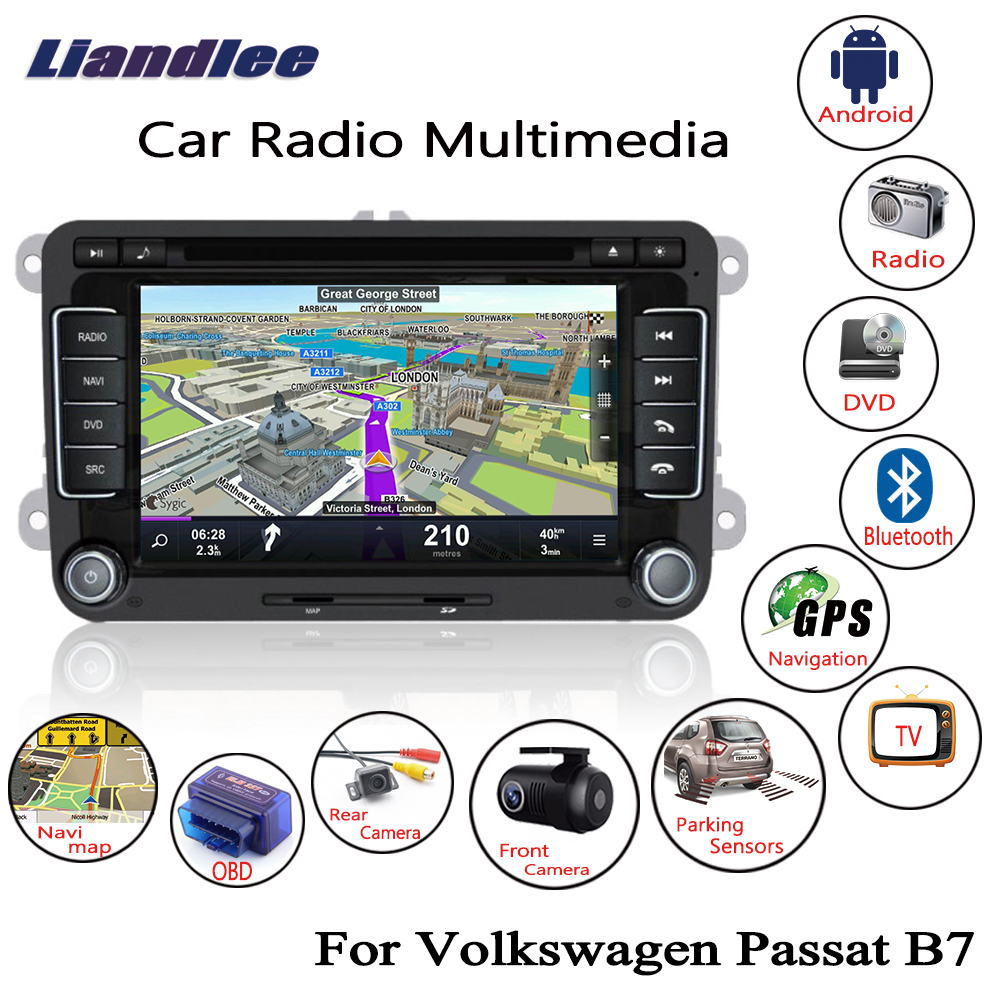 Liandlee For Volkswagen VW Passat B7 2011~2014 Android Car Radio CD DVD Player GPS Navi Navigation Maps Camera OBD TV HD Screen liandlee for ford edge 2011 2014 wince car radio cd dvd player gps navi navigation maps camera obd tv screen multimedia