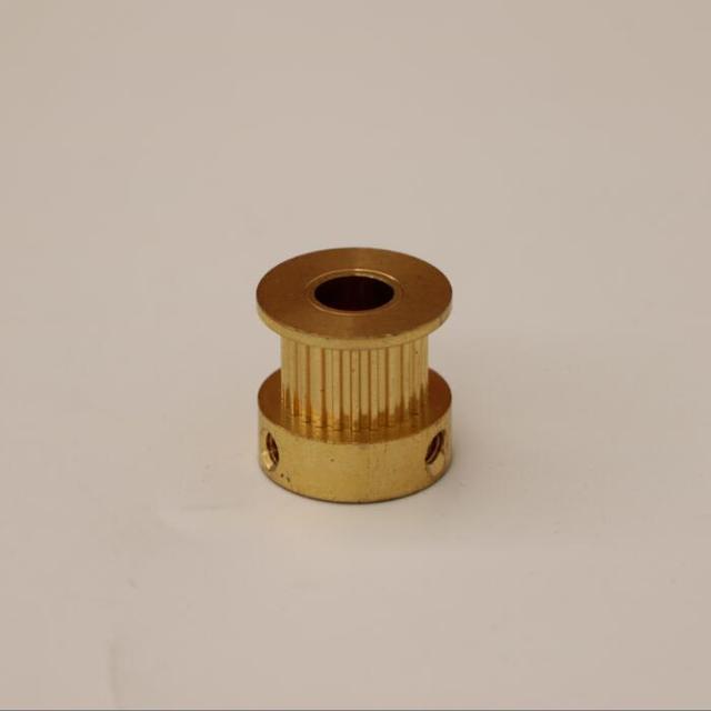 Poulie de synchronisation en laiton MXL 24 dents | Alésoir 8mm pour largeur de la courroie 9mm en cuivre et en laiton, poulie MXL 24 dents
