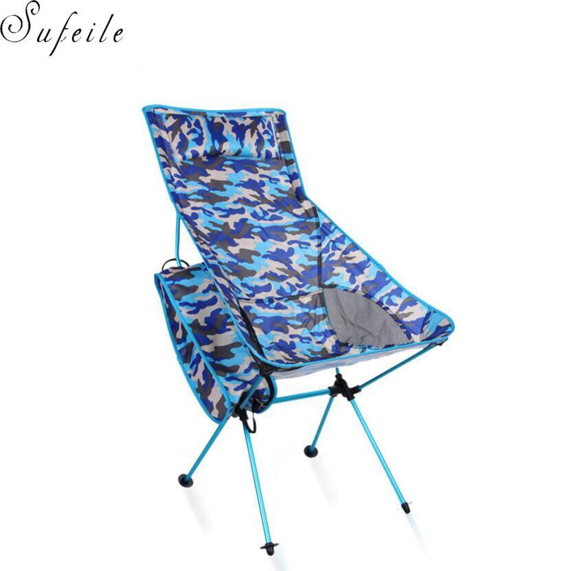 sufeile mountain camping casual big back folding chair ultralight aluminum alloy moon chair beach fishing chair s15d50 - Outdoor Folding Chairs
