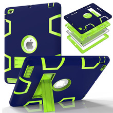 Case For Apple iPad 2 iPad 3 iPad 4 Cover High Impact Resistant Hybrid Three Layer Heavy Duty Armor Defender Full Body Protector(China)