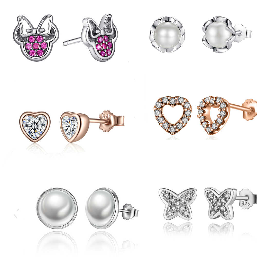 925 Sterling Silver Small stud Earrings for Children Girls Kids Baby Jewelry,earrings for women fashion Children jewelry