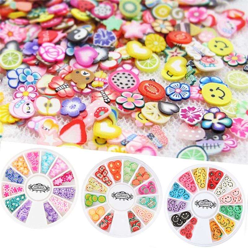 Candy Lover 1 Wheel 3D Polymer Clay Tiny Fimo Wheel DIY Nail Art ...