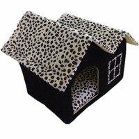 Luxo High-End de Pelúcia Canil Duplo Lugares de Topo Sala de Casa Pet Casa de Cão Cama Do Cão Do Canil da Maca Do Gato