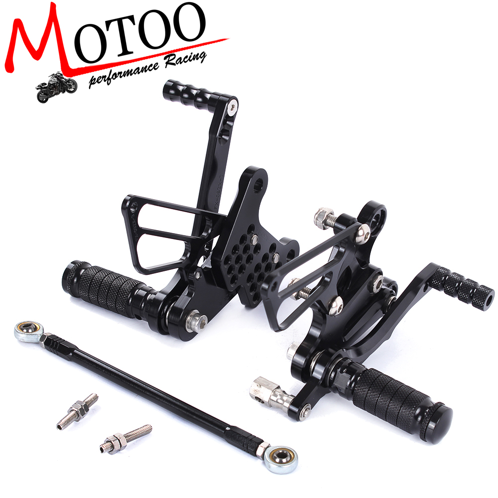 где купить Motoo - Full CNC aluminum Motorcycle Rearset Rear Set For KAWASAKI ZX6R ZX-6R ZX 6R 2009 2010 2011 2012 дешево