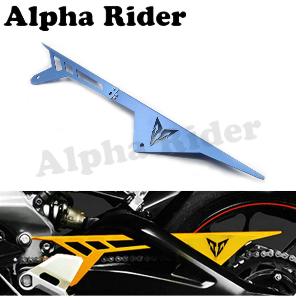 Motorcycle Blue Chain Guard Cover Frame Body Protector CNC Aluminum Detachable for Yamaha MT09 FZ09 MT FZ 09 2013 2014 2015 2016 cnc blue motorcycle engine stator cover protective protector side for yamaha mt 09 fz 09 mt09 fz09 2014 2015 2016 14 15 16