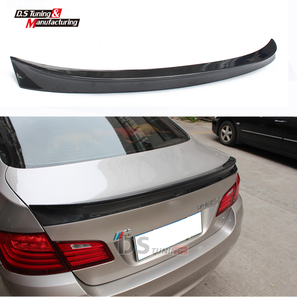 AC Schnitzer carbon fiber  trunk wing rear spoiler for bmw 5 series 4-door sedan f10 2010 + 523i 528i 535i 550i 520d 525d replacement car styling carbon fiber abs rear side door mirror cover for bmw 5 series f10 gt f07 lci 2014 523i 528i 535i
