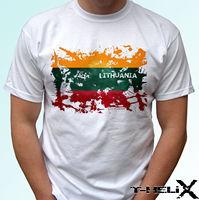Lithuania flag white t shirt top design mens womens kids & baby sizes 2019 fashion t shirt,100% cotton tee shirt