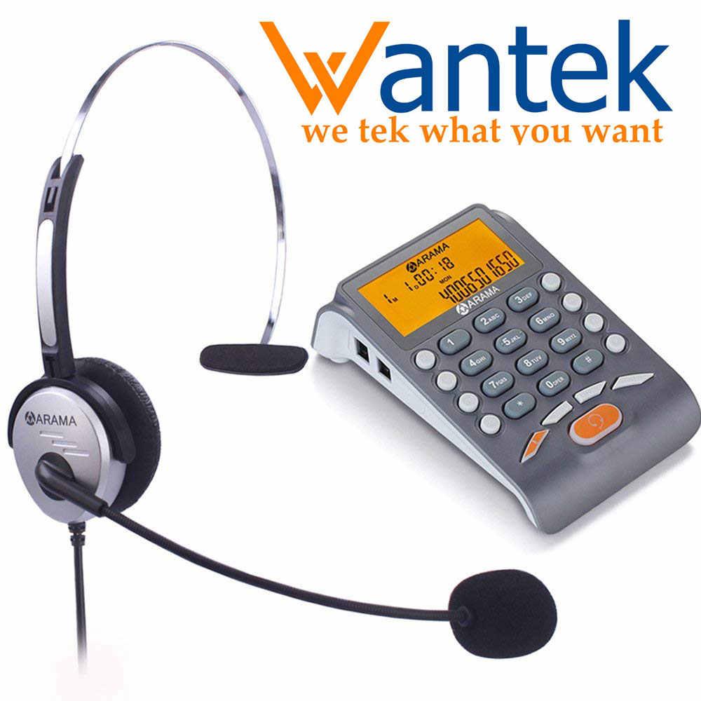 Wantek Arama Telephone With Headset Landline Telephone Headset With Noise Cancellation Headset For House Call Center Office Aliexpress