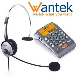 Wantek Arama Telephone with Headset, Landline Telephone Headset with Noise Cancellation Headset for House Call Center Office