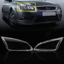 Пара ясно левый и правый автомобиля боковой Фары объектив Колпаки на фары автомобиля крышка Очки для Ford/Focus 2005-2007