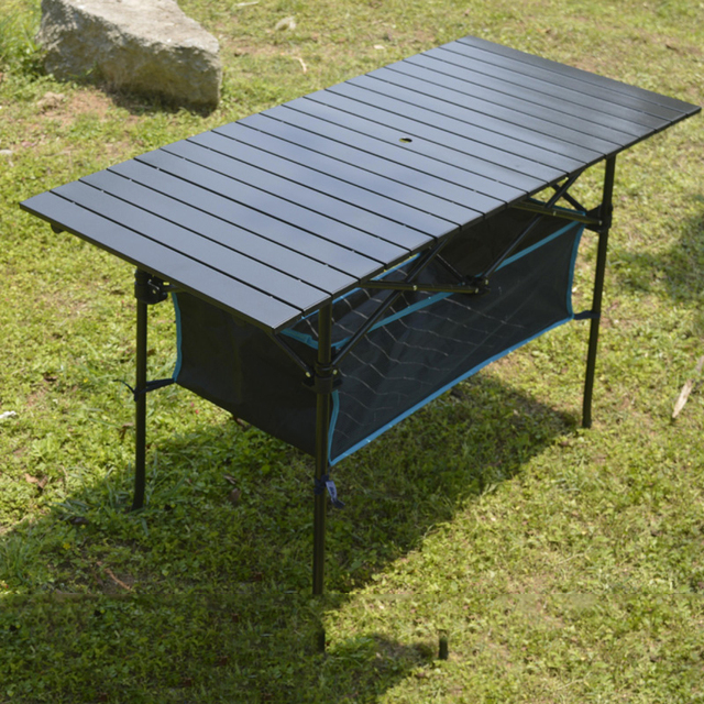 Outdoor Folding Table Chair   Camping Aluminium Alloy Picnic Table Waterproof Durable Folding Table Desk For 95*55*68cm 70*70cm
