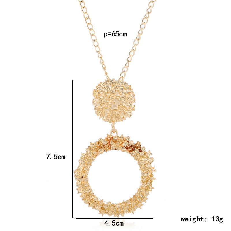 Exknl longo feminino pingente colar colorido vintage colares & pingentes acessórios de moda bonito jóias para presente feminino 2019