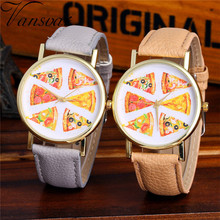 Vansvar Watch Candy Color pizza pattern Male And Female Strap Wrist Watch Stylish Unique Design Simple Style Watch M24