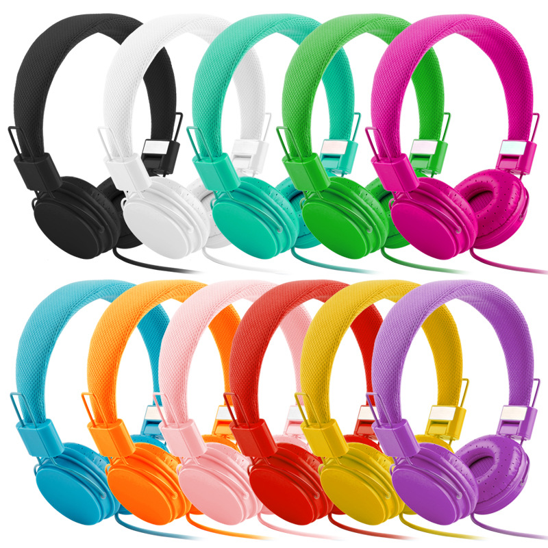 Best Gift For Children High Quality Stereo Bass Headphones Music Earphones Kids Girls Headsets With Microphone For Iphone Xiaomi
