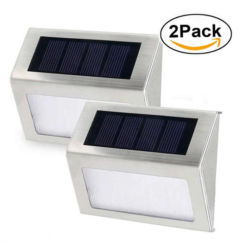 1/2/4/8 pack Waterproof 3Led Solar Lamp for Garden Christmas Decor Solar Step Stair Lights Focos Exterior Wall Lamps night light