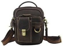 Crazy horse leather men iPad Tabelt Bag Cowskin Shoulder Bag handbags high quality men messenger bags With Front Pockets 060