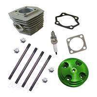 Green CNC Cylinder Head Cover&Cylinder&4xBolts Fit 80cc Motorised Bike