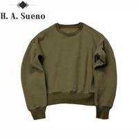 New Sweatshirts Simple Solid Men S Hoodies Oversize Drooping Shoulders Men S Tops Olive Camel Black
