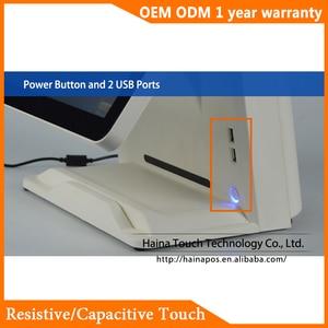 Image 3 - Haina Touch 15 pulgadas pantalla táctil estación de Gas POS Sistema de pantalla Dual Wifi POS máquina