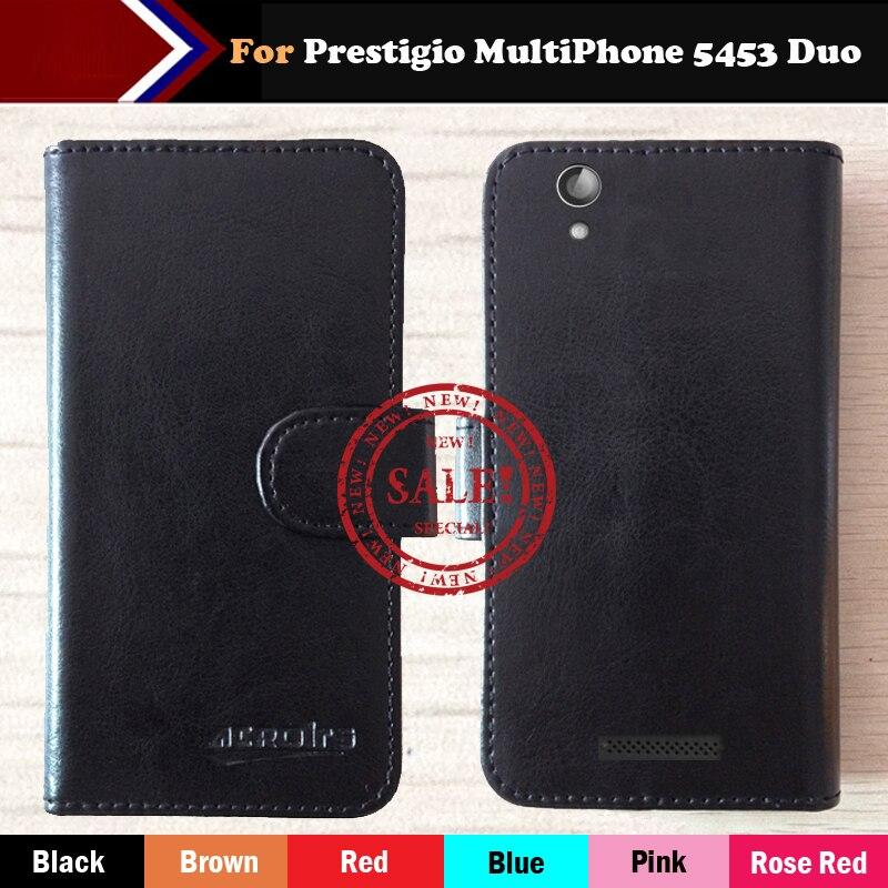 Galleria fotografica ! Prestigio MultiPhone 5453 Duo Cas 6 Couleurs Dédié Personnaliser Cuir de Chiquenaude de Couverture <font><b>Smartphone</b></font> Anti-glissé Cas Carte Portefeuille