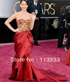 2017 Oscar New Arrival Fashion Noble Luxury  Red carpet Ruched Embroidery Celebrity Evening Mermaid Dress Gown Custom Made