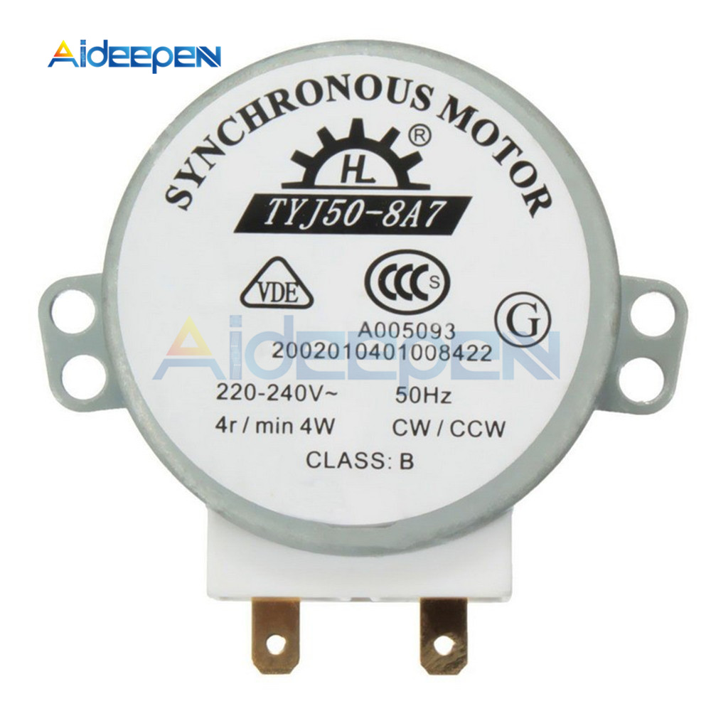 AC 220V-240V CW/CCW Microwave Turntable Turn Table Sincrono Synchronous Motor TYJ50-8A7 Vertical Turntable Motor D Shafted 7