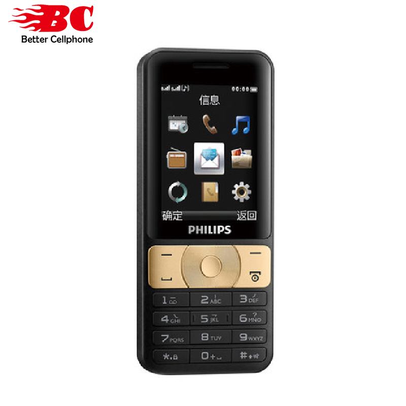 Nuevo Original Philips E180 teléfono teclado 2,4 pulgadas 2g GSM 3100 mAh batería linterna LED Dual tarjeta SIM 240x320 P radio FM MP3