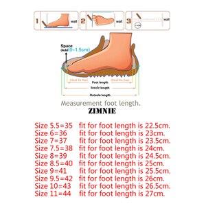 Image 5 - ZIMENIE Thương Hiệu 16 Màu Mềm Người Phụ Nữ Đế Giày Người Phụ Nữ Bướm Trang Trí Đi Bộ Giày Da Cho Nữ Big Size Lớn 35 ~ 44