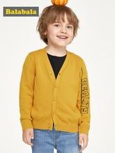 цена на Balabala Children clothing sweater boys 2019 new autumn cotton baby sweater wild small cardigan