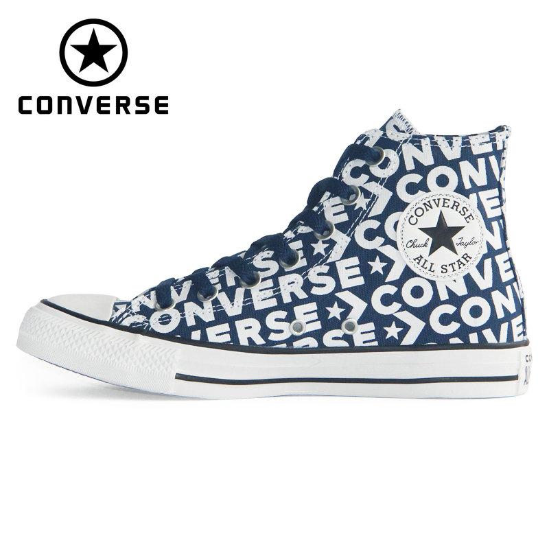 CONVERSE 2019 new Chuck Taylor All Star man and women sneakers Classic letter style high Skateboarding